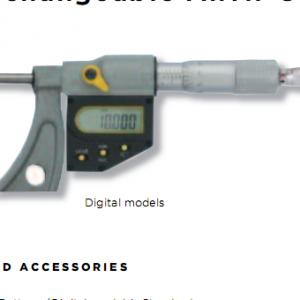 Panme đo ngoài điện tử (Với đầu đo có thể thay đổi ) 115-12-0 (150-300mm)