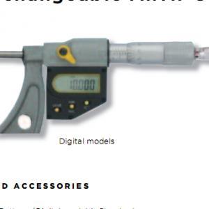 Panme đo ngoài điện tử (Với đầu đo có thể thay đổi ) 115-04-6 (0-100mm)
