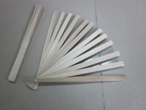 Bamboo fan staves