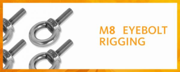 M8 eyebolt rigging