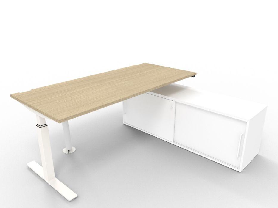 bàn văn phòng nâng hạ bằng động cơ