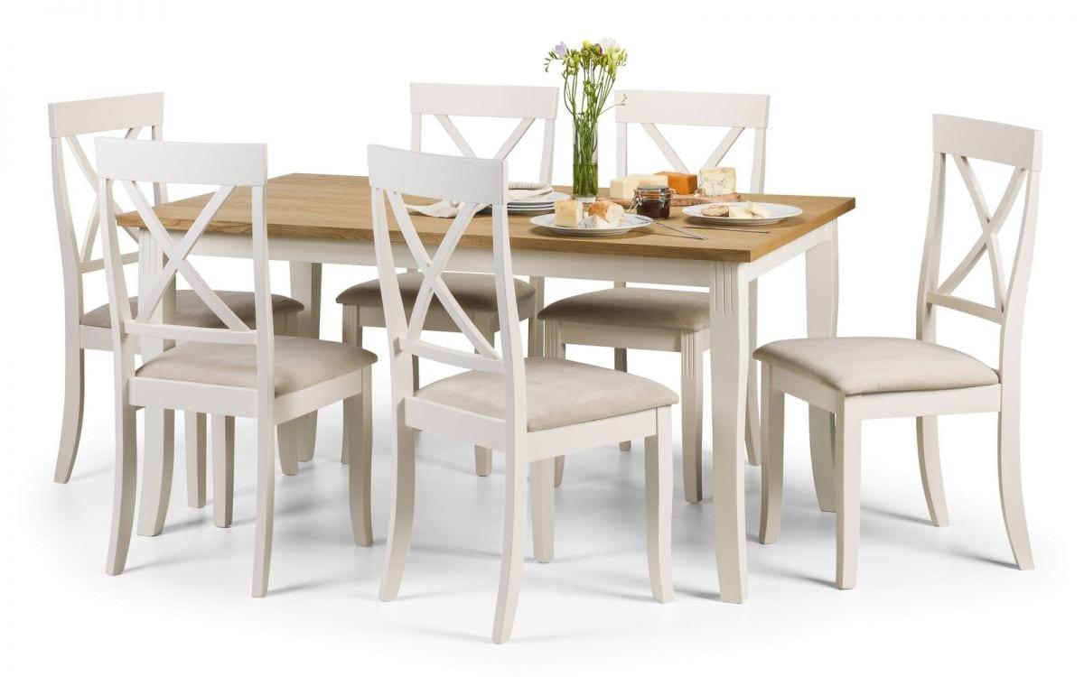 bàn ăn nhỏ gọn bằng gỗ 6 người