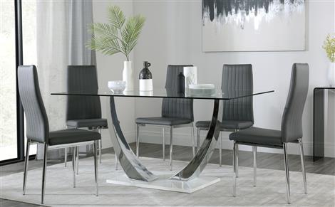 bàn ăn bằng kính 6 người