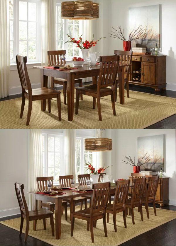 bàn ăn mở rộng 10 người