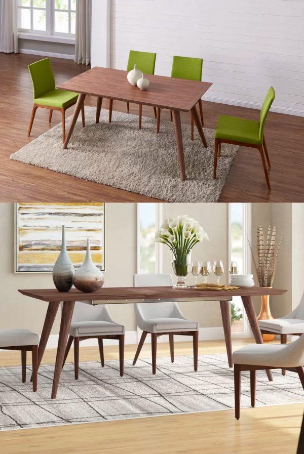 bàn ăn mở rộng bằng gỗ