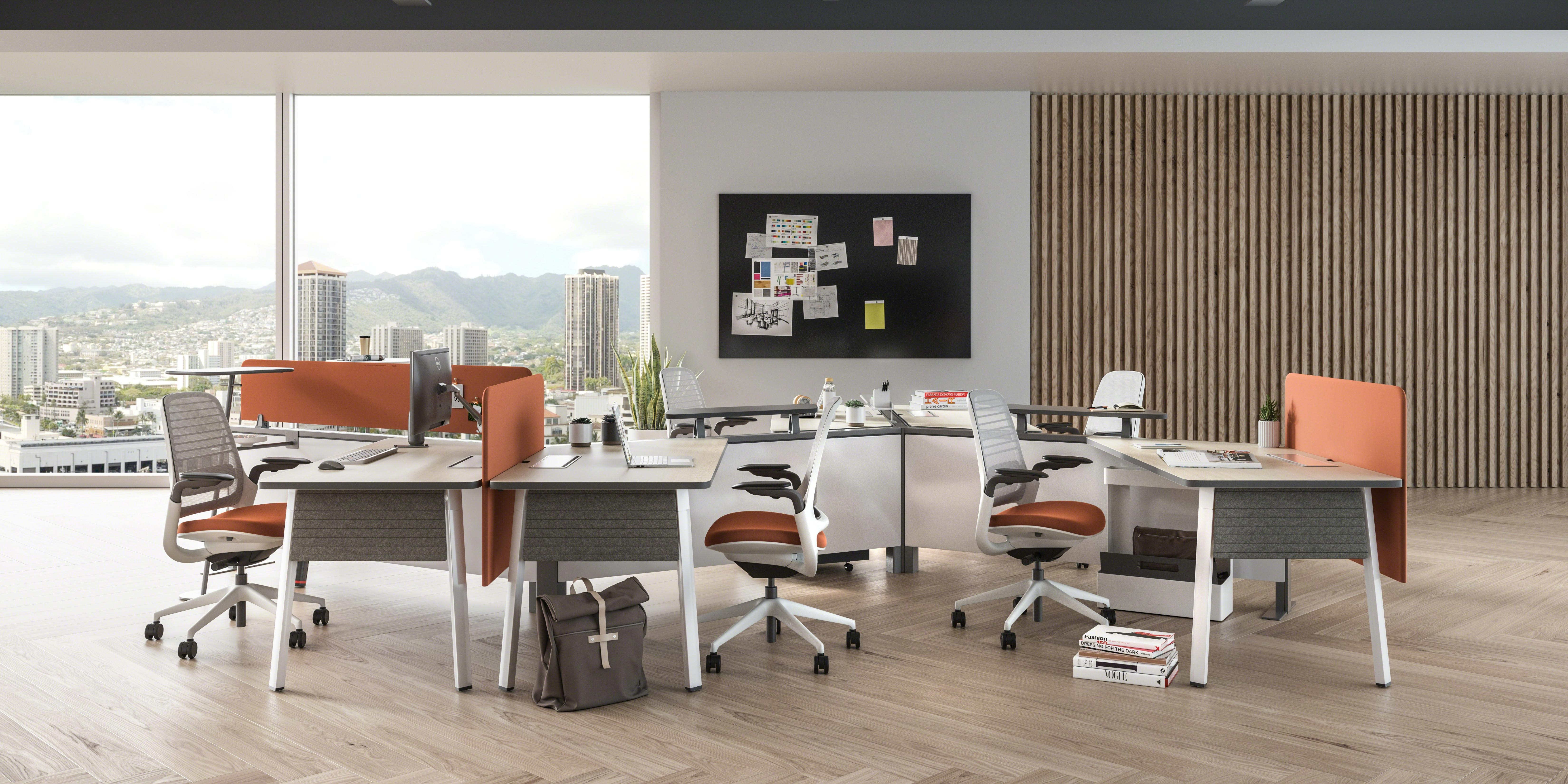 bàn nâng hạ cho nội thất văn phòng