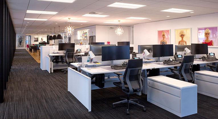 thi công văn phòng mở hiện đại