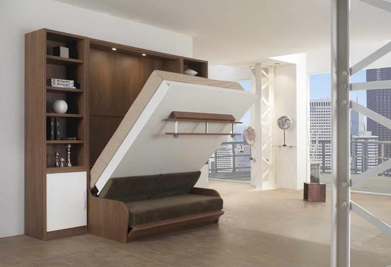 giường gấp gọn vào tường