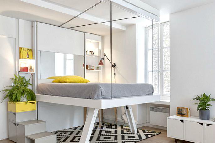 mẫu giường treo trần nhà
