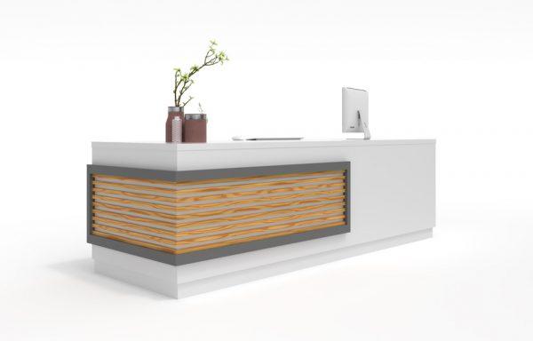 thiết kế bàn tiếp tân cho văn phòng