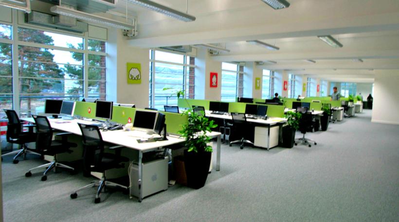 Mẫu thiết kế cho văn phòng với không gian mở