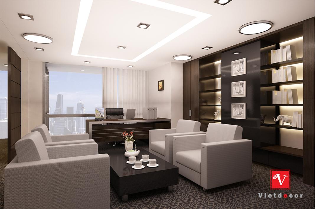Thiết kế thi công nội thất văn phòng hiện đại tòa nhà LOTTE
