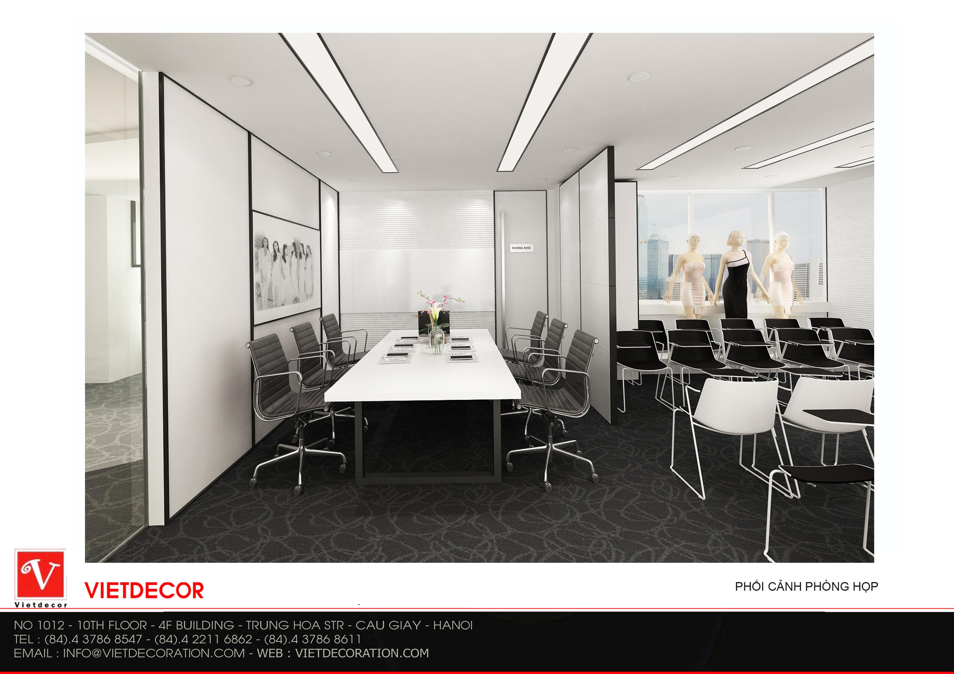 Thiết kế thi công nội thất văn phòng đẹp tại Hà Nội