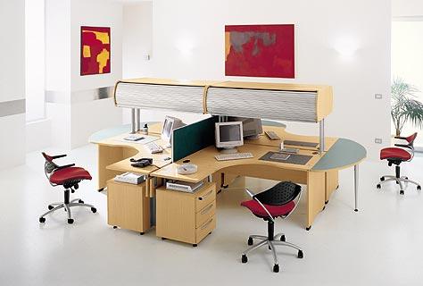 Thiết kế bàn làm việc văn phòng đơn giản và hiện đại