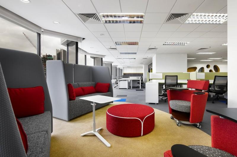 Thiết kế nội thất văn phòng đầy mầu sắc tại Malaysia