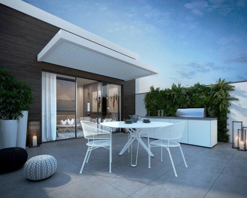 Thiết kế căn hộ hiện đại đơn giản phong cách châu âu