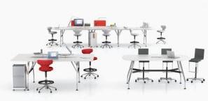Giới thiệu bàn làm việc thay đổi trạng thái Vitra