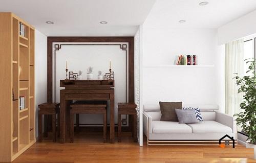 Tham khảo thiết kế bàn thờ dùng cho chung cư