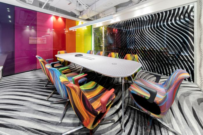 Thiết kế văn phòng ấn tượng bằng hiệu ứng mầu sắc