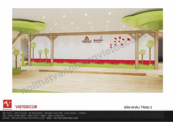 Các thiết kế không gian kiến trúc trường mầm non Sunshine Maple Bear