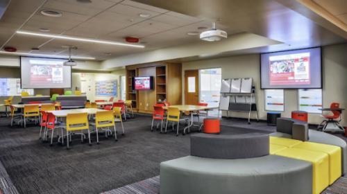 Kết hợp nội thất lớp học hiện đại nhằm phát huy khả năng sáng tạo