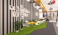 Thiết kế không gian mở trong văn phòng theo xu hướng hiện đại