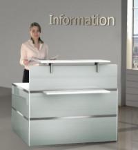 Giới thiệu bàn tiếp tân bằng kính thương hiệu Office Reality