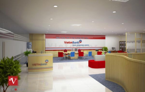 Thiết kế thi công văn phòng giao dịch ngân hàng