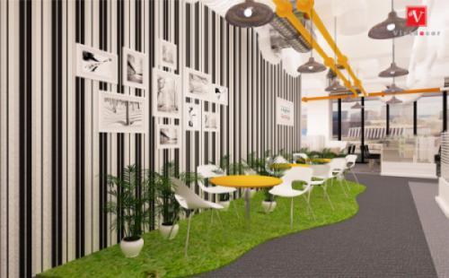 Thiết kế thi công nội thất văn phòng công ty VCCorp