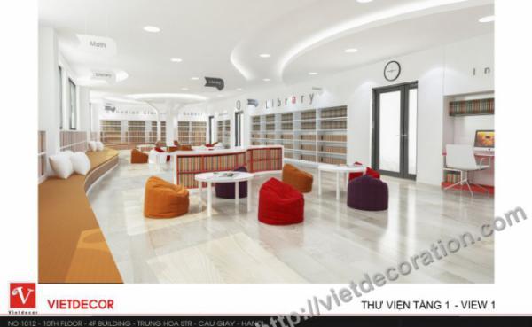 Thiết kế thi công nội thất trường tiểu học Sunshine Maple Bear
