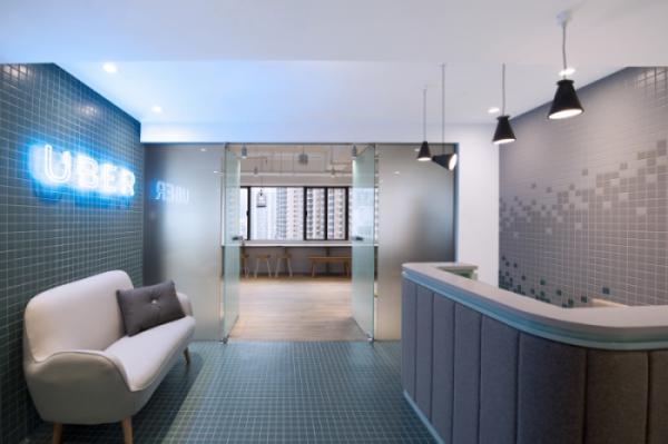Tham khảo thiết kế nội thất văn phòng Uber Hồng Kông
