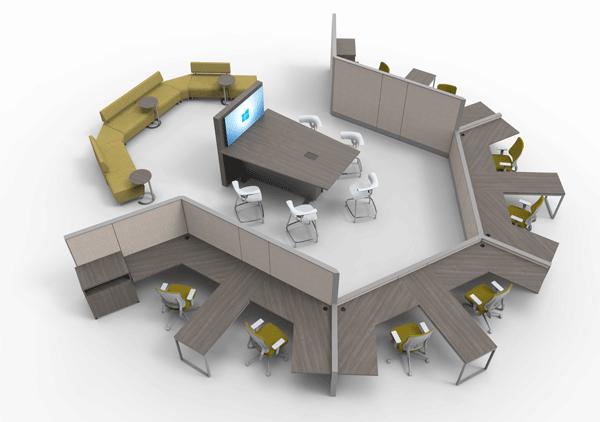Xu hướng không gian làm việc linh hoạt trong thi công văn phòng năm 2021