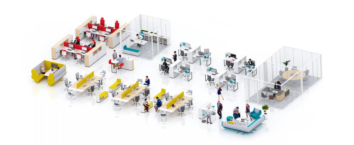Một số sản phẩm bàn làm việc thay đổi trạng thái của hãng Nowy Styl