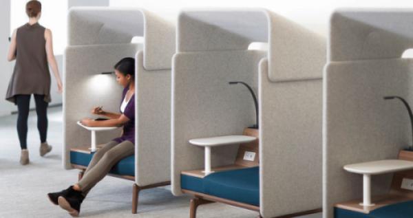 Một số ứng dụng của ghế ngồi làm việc riêng tư trong văn phòng