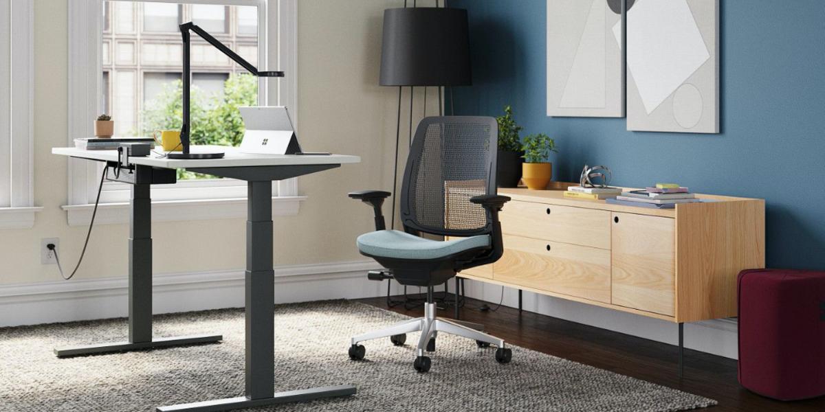 Thiết kế một văn phòng hiện đại làm việc tại nhà cho năm 2021.