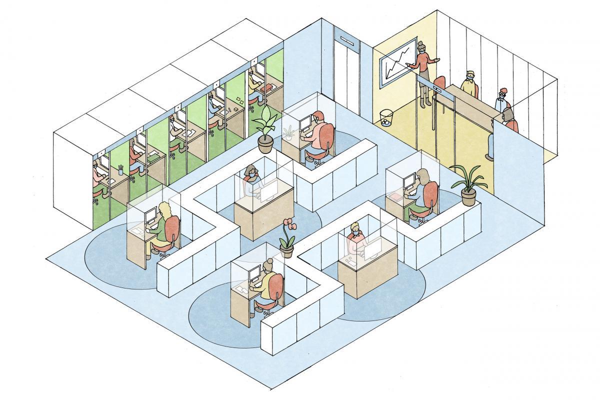Xu hướng thiết kế nội thất văn phòng hậu Covid-19 bạn có thể áp dụng.