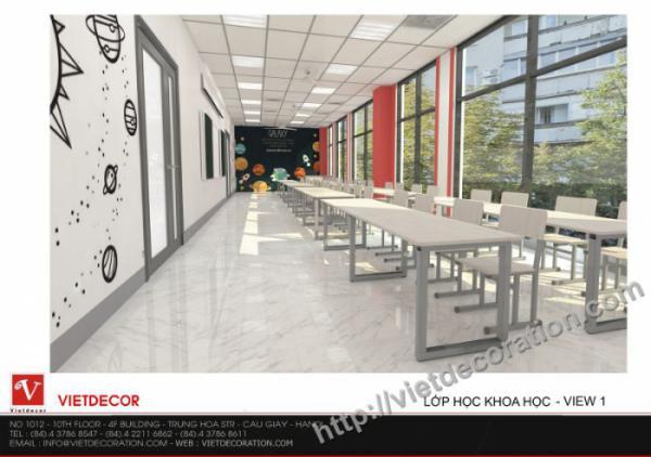 Hình ảnh thiết kế nội thất trường trường tiểu học Sunshine Maple Bear