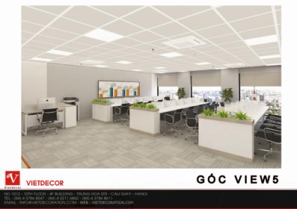 Thi công nội thất văn phòng tại tầng 5, tòa nhà ICON 4