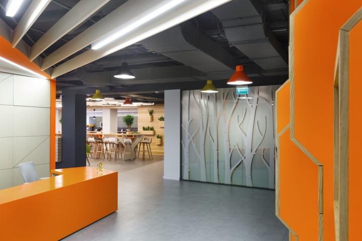 Tham khảo thiết kế nội thất văn phòng xanh đẹp Odnoklassniki