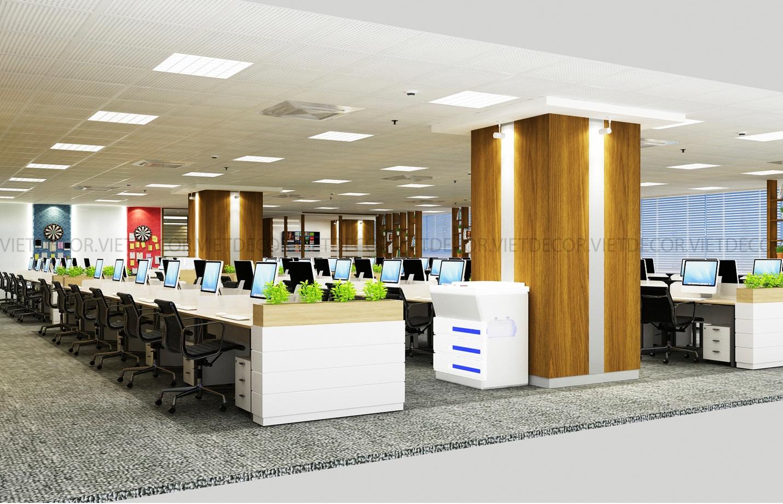 thiết kế thi công nội thất văn phòng GEM