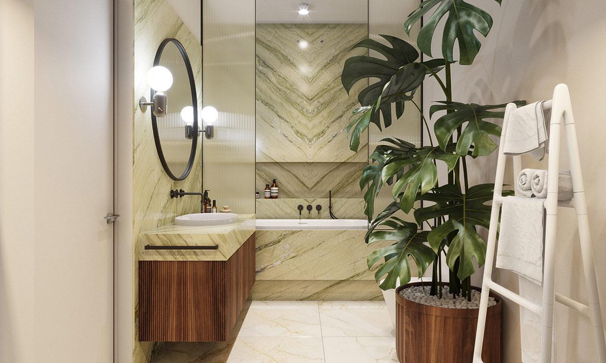 thiết kế căn hộ hiện đại cho phòng tắm