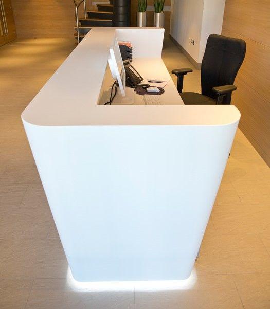 thi công nội thất khu vực lễ tân văn phòng