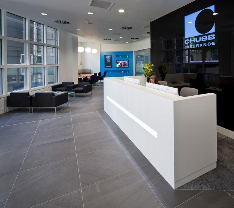 thiết kế nội thất khu vực lễ tân văn phòng