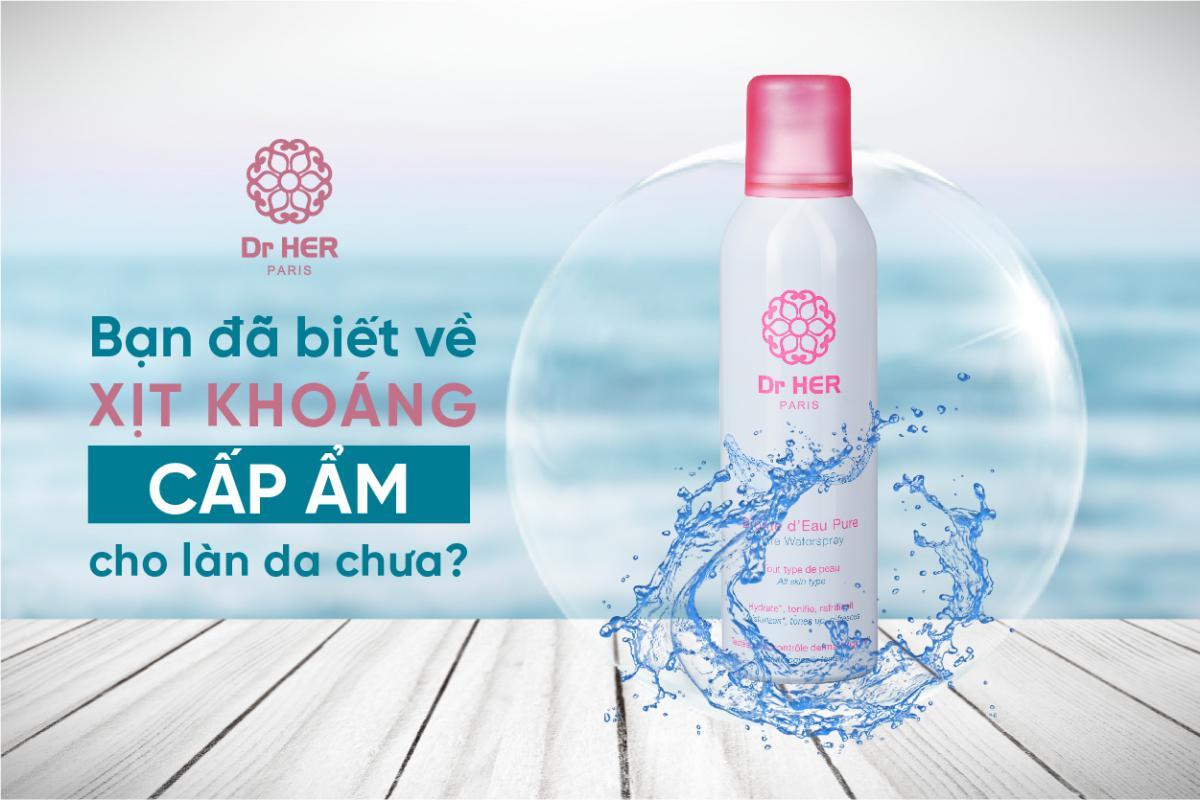Bạn đã biết về xịt khoáng cấp ẩm cho làn da chưa?