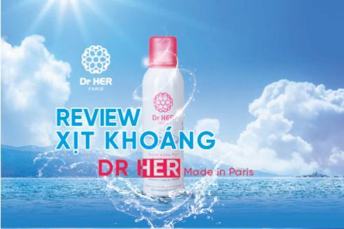 Review xịt khoáng Dr.Her