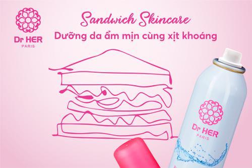 Sandwich Skincare - Dưỡng da ẩm mịn cùng xịt khoáng