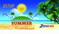 Zodiac ME Thông báo lịch nghỉ mát năm 2018