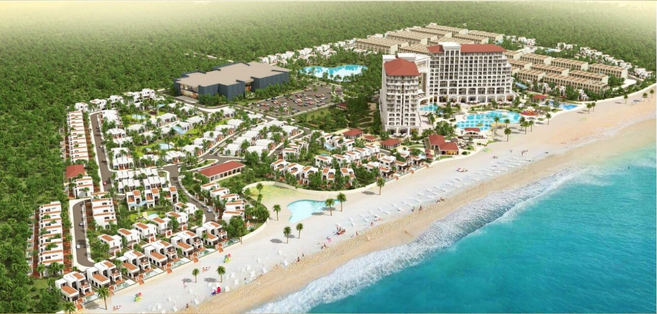 Hình ảnh thi công DA Khu Trung tâm hội nghị, khách sạn, du lịch và biệt thự nghỉ dưỡng FLC Quảng Bình