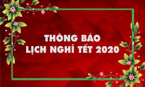 Thông báo nghỉ tết dương lịch 2020