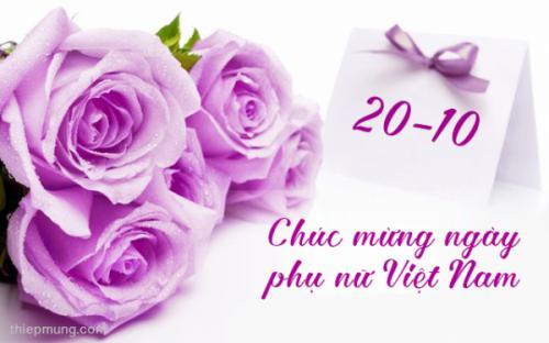 Chúc mừng ngày quốc tế phụ nữ 20 - 10